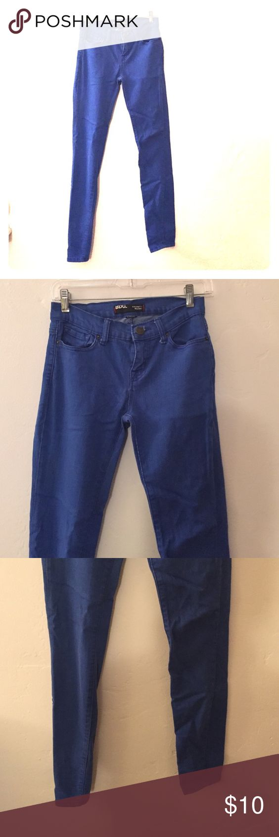 Colored skinny jeans urban outfitters Royal blue. Super soft. Good condition BDG Jeans Skinny