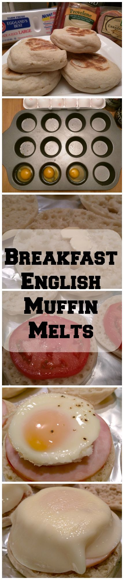 on how to make these easy Breakfast English Muffin Melt's. (Make ahead ...