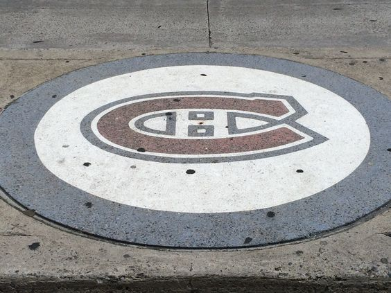 Habs logo outside the Forum on Atwater Street.  #montreal #quebec #canada #canadiens #habs #nhl #hockey #travel