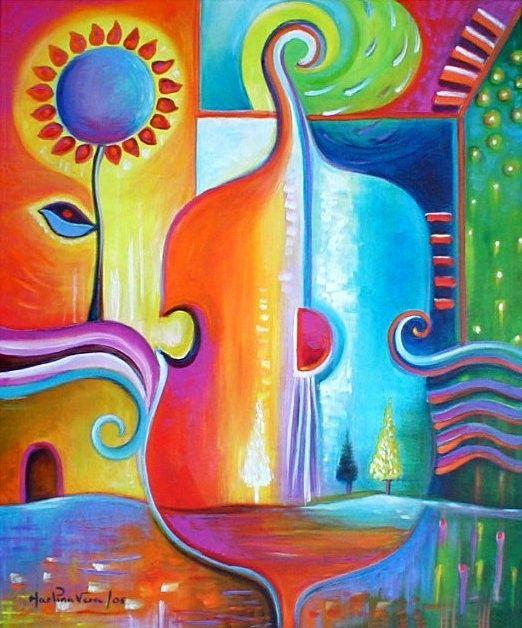 ~  #abstract art; #violin
