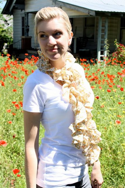 summery ruffled scarf