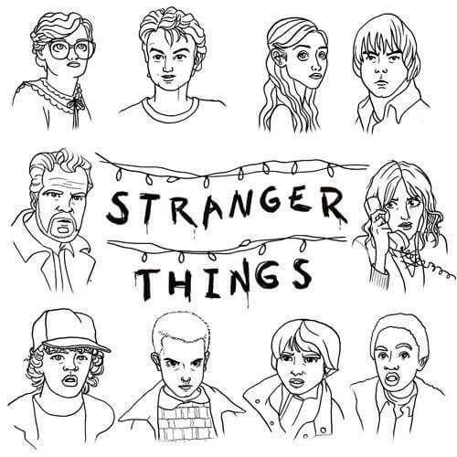 Printable Stranger Things Coloring Pages Free In 2020 Stranger Things Poster Stranger Things Stranger Things Art