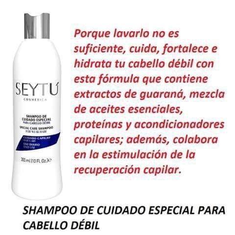 Shampoo Seytu De Cuidado Especial Crema Para El Cabello Champu Seytu Maquillaje