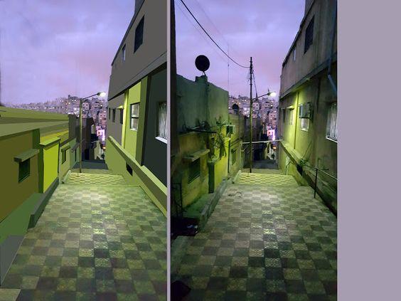 معالجة رقمية لتحسين مشهد هامشي: