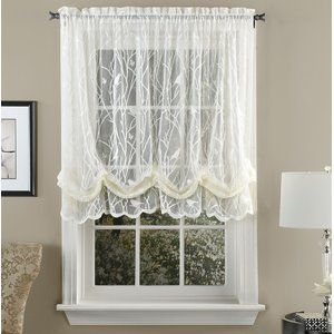 Prevatte Bird Song Sheer Lace Single Balloon Shade 56 Song Sheer Prevatte With Images Balloon Shades Blinds And Curtains Living Room Balloon Curtains