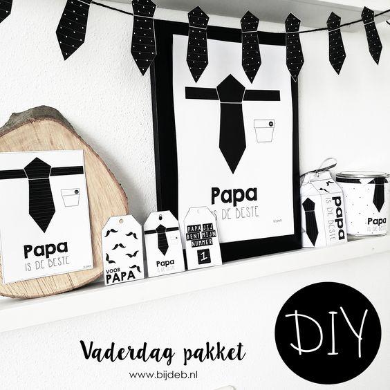 DIY Vaderdag pakket.. Free printables en Free downloads: