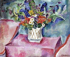 Pyotr Konchalovsky - naturaleza muerta flores precipitadamente clavel
