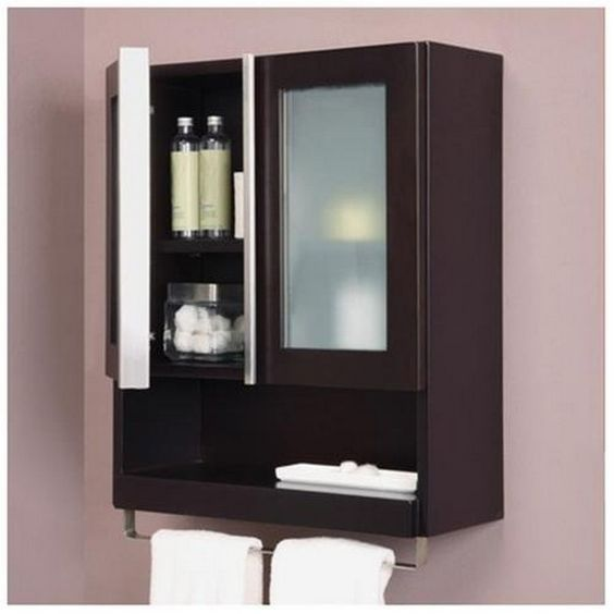 Bathroom wall cabinet bathroom accessories 8 awesome for Espresso bathroom ideas
