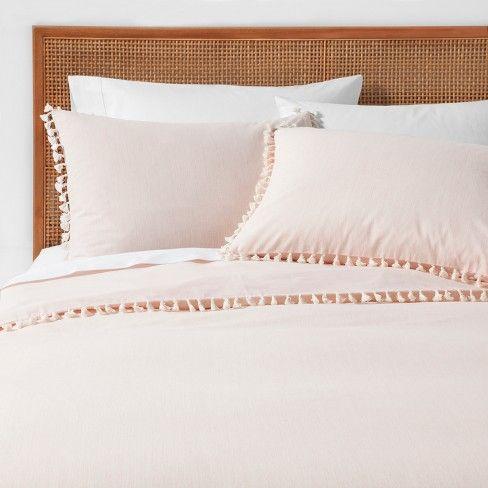 Yarn Dyed Tassel Trim Duvet Cover Set Opalhouse Target Duvet Cover Sets Duvet Covers Bed Duvet Covers