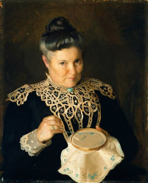 Portrait of the Artist's Mother (Rose Paxton) by William McGregor Paxton (circa 1902) Museum of Fine Arts Boston ,: