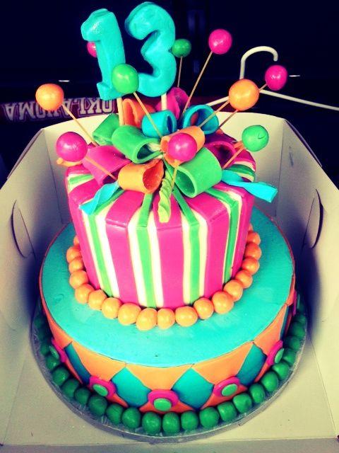 Fabulous and Fun 13th Birthday Cake - @TartBakeryDallas ...