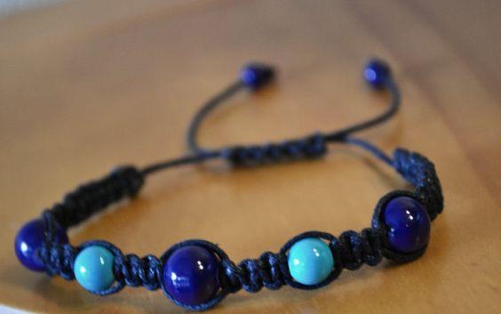 Blue Dream Friendship Bracelet by LegitCraftworks on Etsy $5
