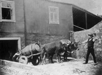 Saindo de um armazém de vinhos em Gaia - 1910