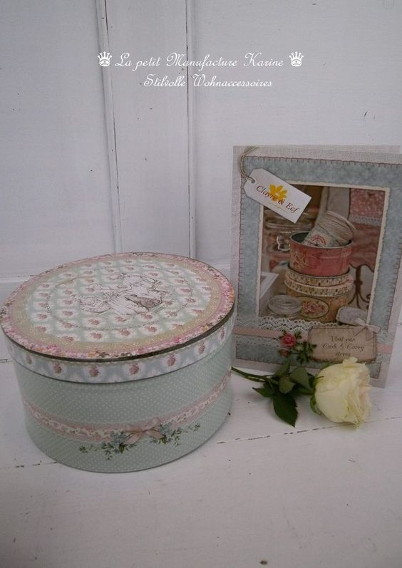 Clayre & Eef Dose/Schatulle Daphne`s Diary GROSS im Shabby Chic-Stil