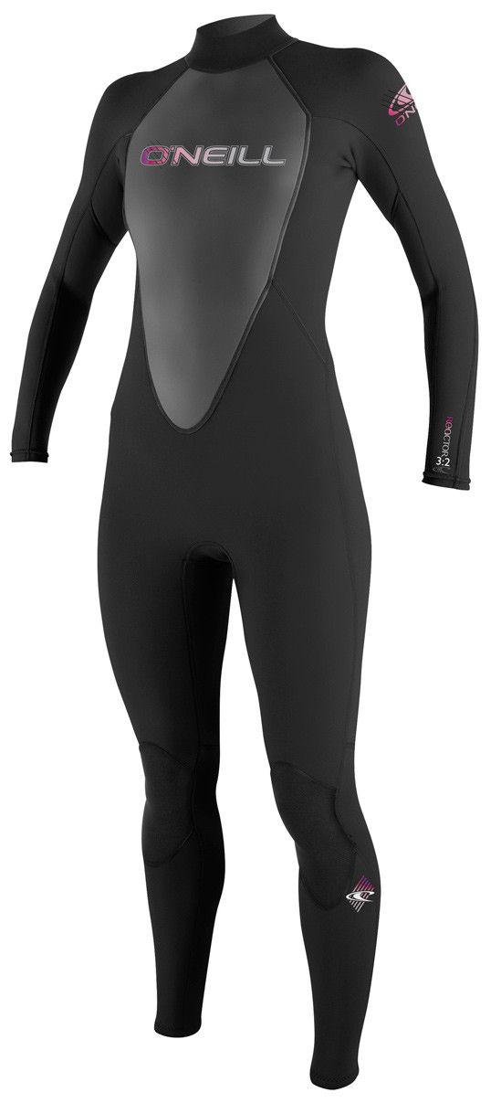 O'Neill Reactor 3/2 Full Wetsuit Black/Black/Black Womens