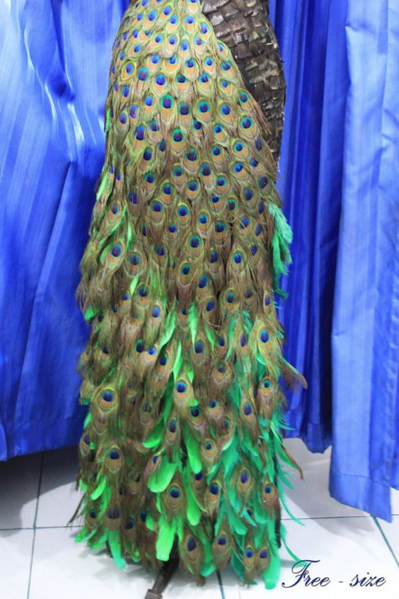 magnificent Skirt Ful of A peacock Feathers  NOW by AlalNinaDesign