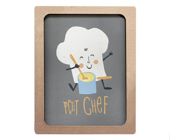 Quadro Petit Chef Cru - 40x50cm | Westwing - Casa & Decoração