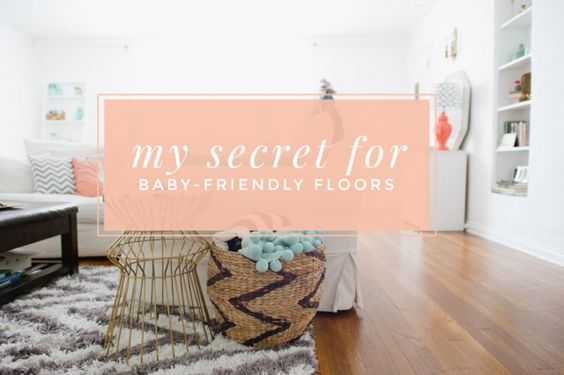 Great suggestions for keeping your floors baby and toddler-friendly! Clean floors, easy and affordably, plus a coupon! Click through for discount.