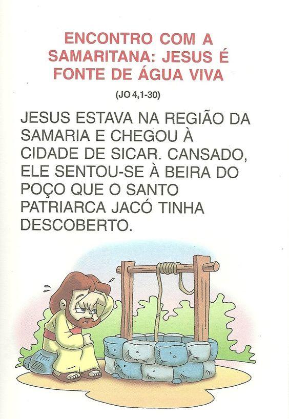 A Mulher Samaritana - Atividades e Desenhos                                                                                             ...
