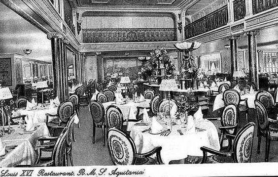 Aquitania's  First Class Restaurant.