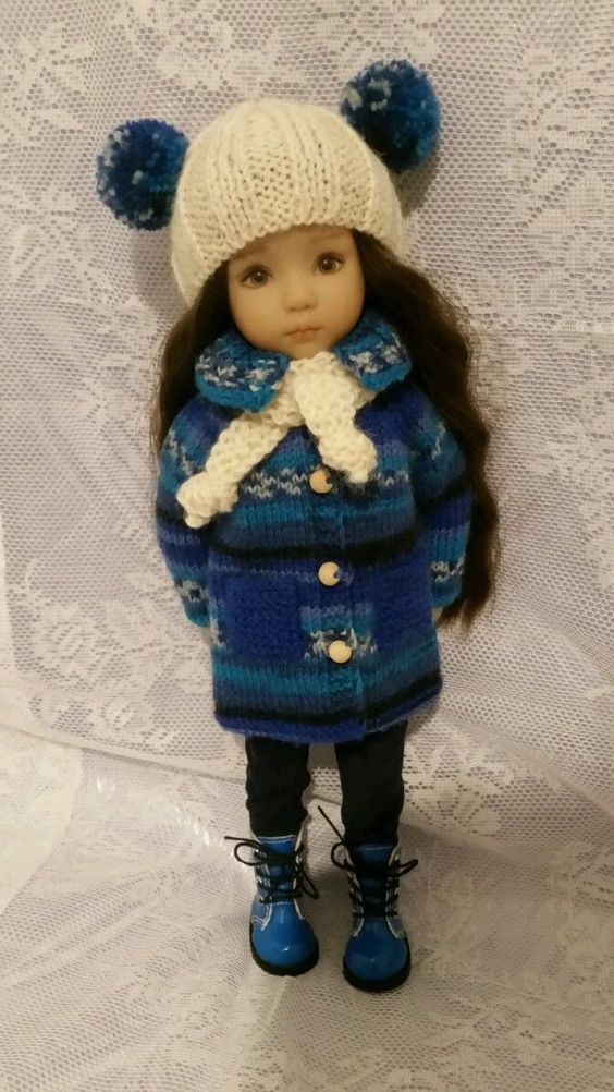 """Woolen Knitted Outfit or Dianna Effner Little Darling 13"""" 