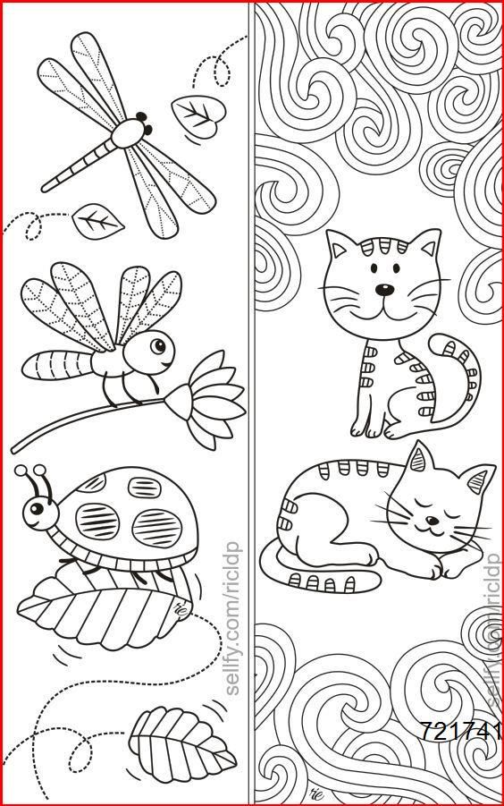 Cats Dragonfly Insects Coloring Bookmarks Insects Coloring Bookmarks In 2020 Coloring Bookmarks Coloring Bookmarks Free Bookmarks Kids