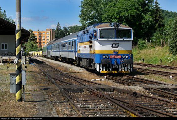 RailPictures.Net Photo: 754 045 3 Ceske Drahy CD 754 at Cesky Krumlov, Czech Republic by Jaroslav Dvorak
