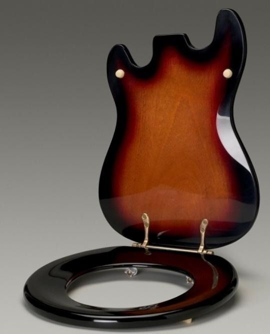 Guitar Body Shaped Toilet Seat Oddities Pinterest