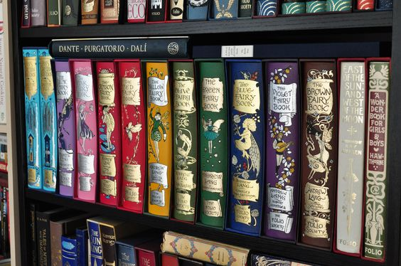 My collection of Andrew Lang's Rainbow Fairy Books published by Folio Society: