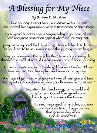 A Blessing for My Niece (baby) | Pinterest | Happy mothers ...