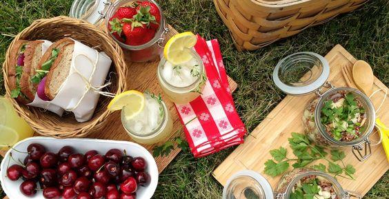 Disfrutando de un picnic entre dos!