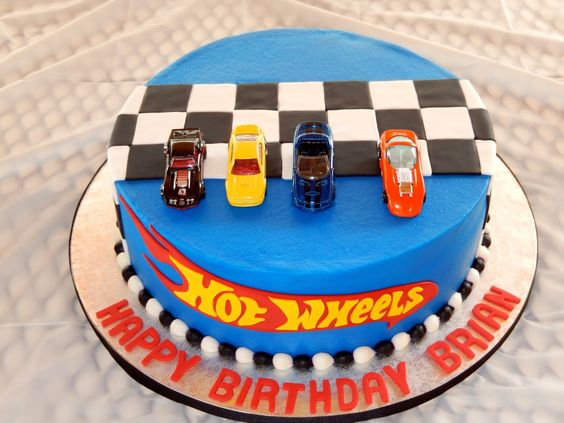 Ethan's Hot Wheels cake: