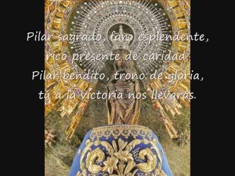 Himno De La Virgen Del Pilar Youtube Del Pilar Pilares Historia De La Virgen