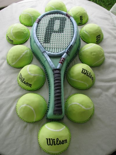 Tennis Racket cake By DanielleTanton. Cool for a end of the year tennis party or something.