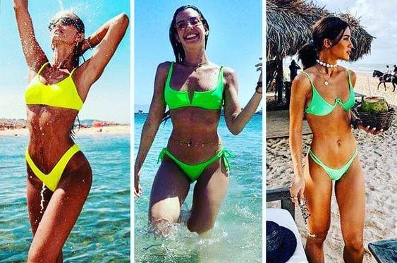 Mais tendência de inspiração para vocês. A melhor estação do ano,verão é vida! Verde e amarelo são obrigatórios no verão 2020 e esses são os modelos em alta. #verao2020 #modapraia #biquinis #maiô #praia #fashionista #neon #brasileira #blogger #blogueira #tumblr #boanoite #sabadao #fds #tendencia #referencia