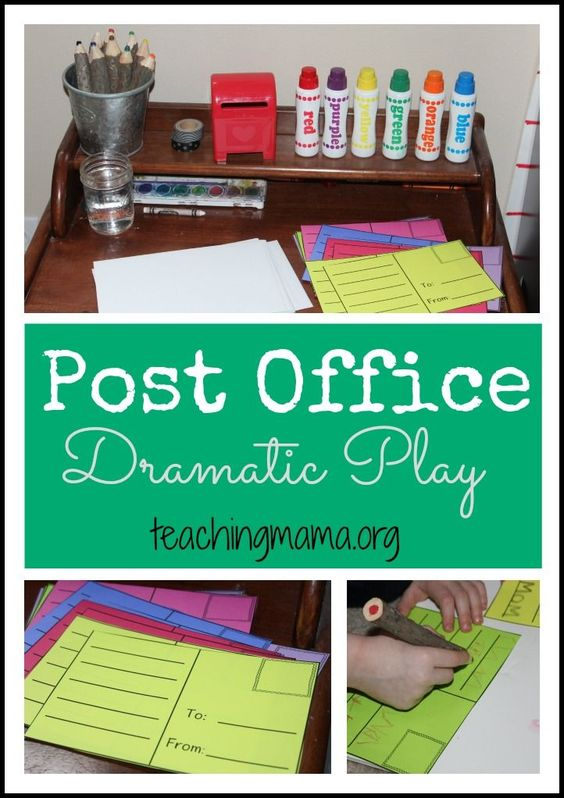 Post Office Dramatic Play for Preschoolers