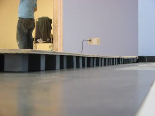 Constructing a dance floor with plywood and foam blocks for Foam block floor