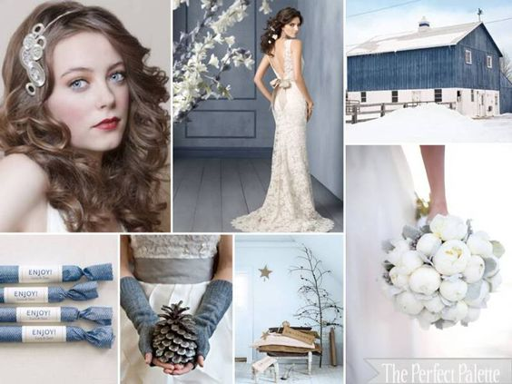 The Perfect Palette: {Blue Christmas Without You}: A Palette of Powder Blue, Gray, Sky Blue + White}