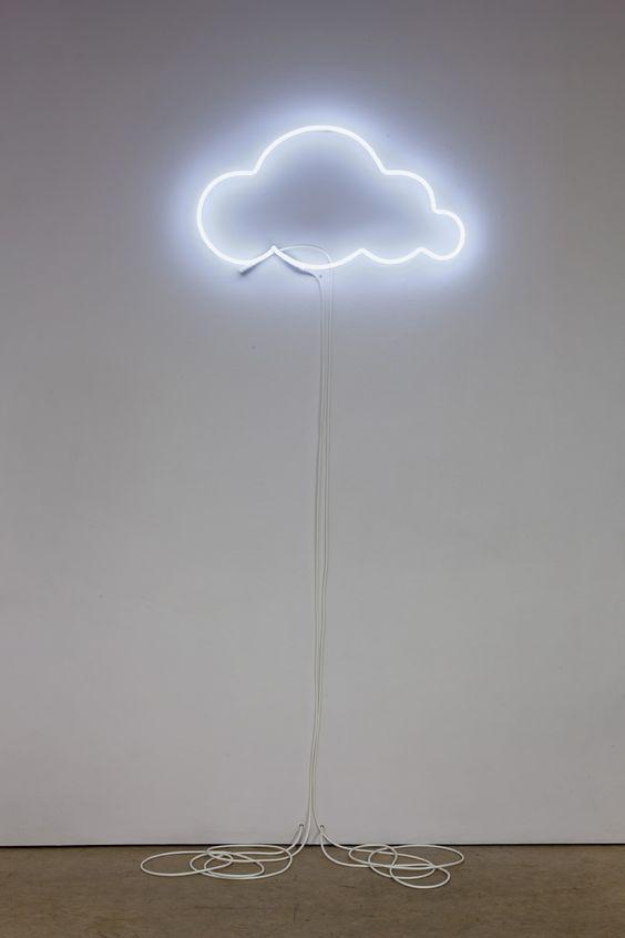 Sculpture by Laurel Woodcock. #art #cloud #nuage #neon #sculpture #light: