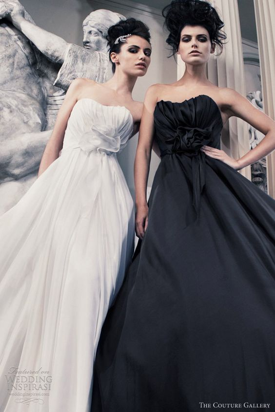the couture gallery bridal 2012 2013 anna may white ava black wedding dress