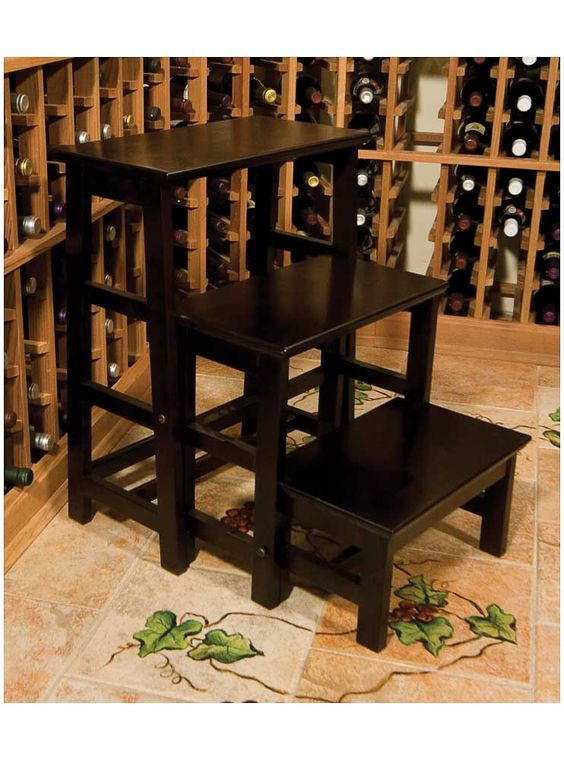 A very convenient Folding Step Ladder for your wine cellar: Folding Step, Step Stools, Cellar Innovations, Innovations Wine, Cellar Step, Closet Step, Cellar Ladders, Step Ladder