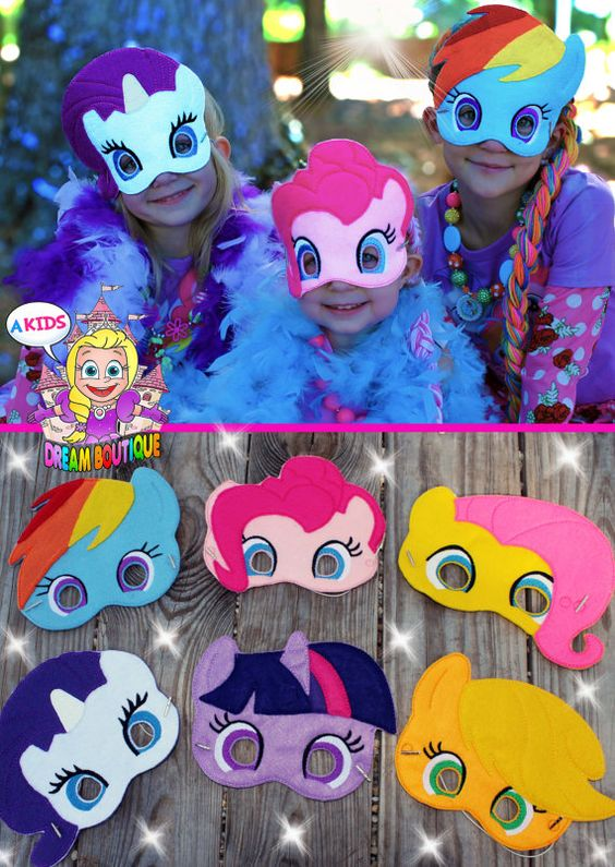 My Little Pony Mask Pinkie Pie costume por AKidsDreamBoutique:
