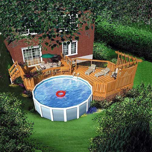 Extrêmement deck piscine hors sol - Recherche Google | extérieur | Pinterest  SZ02