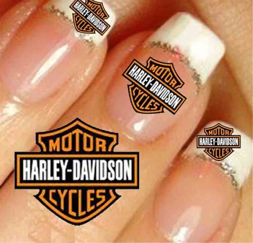 3 sets of 20 HARLEY DAVIDSON STICKERS in 2 SIZES = 60 NAIL ART STICKERS - 15 Best Ongles Harley Davidson Images On Pinterest Harley