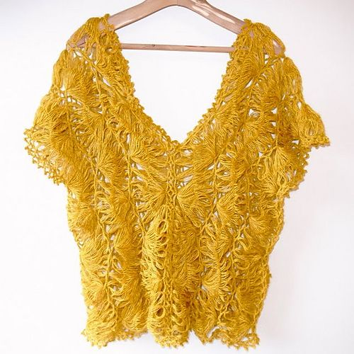 Ravelry: p.96 Hairpin Lace Pullover pattern by Fumiko Imaizumi (今泉史子)