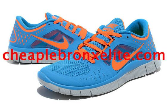 Pink Blue Nike Free Run 3 Womens Orange 510643 402
