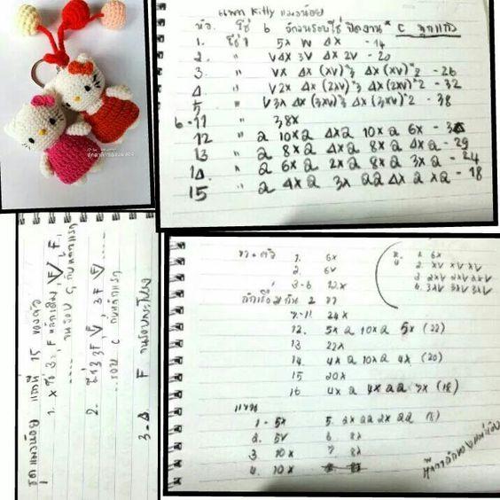 Amigurumi Maneki Neko Free Pattern : Pattern thai amigurumi hello kitty Foto patrones ...