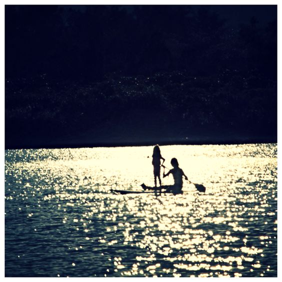 Sunset paddleboarding with my girl