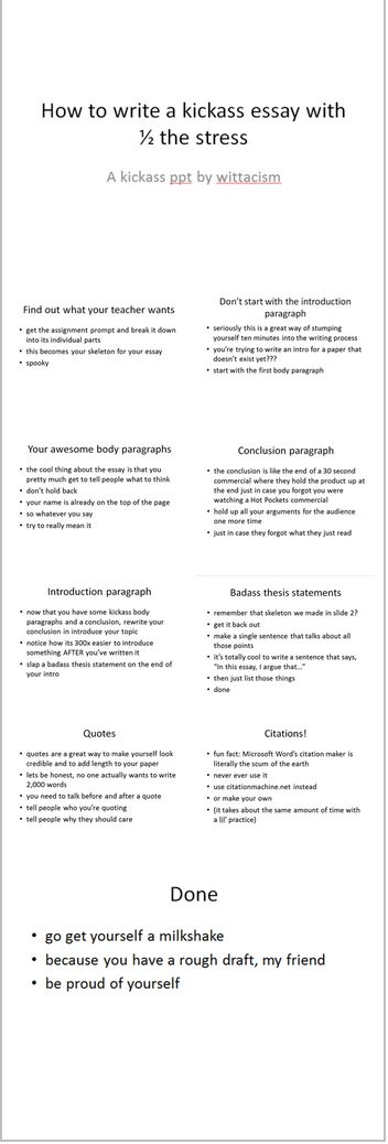 How to write a kickass essay Stay Focused Pinterest College - how to write a