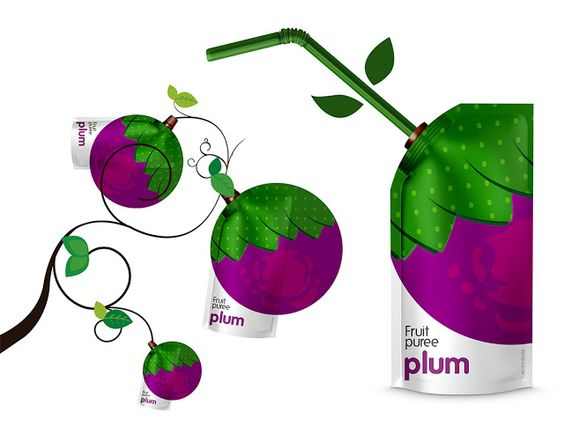 Packaging of the World: Creative Package Design Archive and Gallery: Natural Fruit Puree (Concept)
